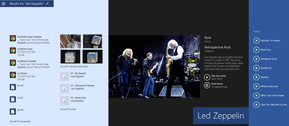 win 8_1 search example led zeppelin 1