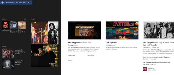 win 8_1 search example led zeppelin 2